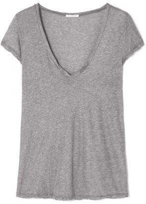 James Perse Mélange Cotton-jersey T-shirt - Gray