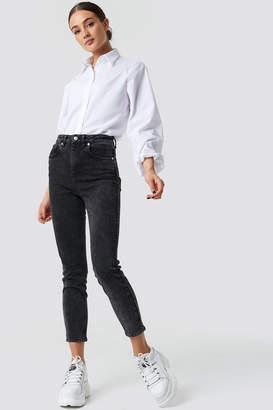 NA-KD Na Kd High Rise Skinny Fit Jeans Black Stone Wash