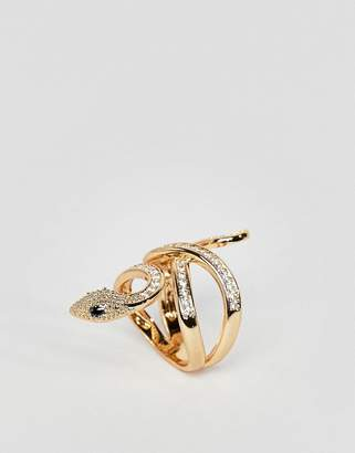 Aldo Gold Snake Statement Ring