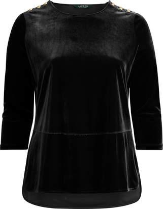 Ralph Lauren Georgette-Velvet Tunic Top