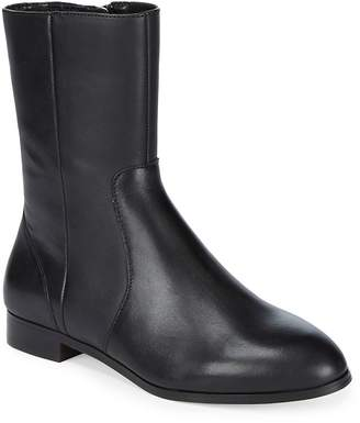 Saks Fifth Avenue Women's Paneled Almond Toe Leather Ankle Boots