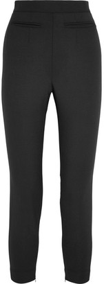 Alexander McQueen - Stretch Wool-blend Leggings - Black $765 thestylecure.com