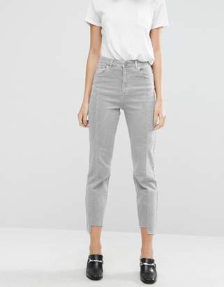 Asos Deconstructed Pencil Straight Leg Jeans In Husk Wash