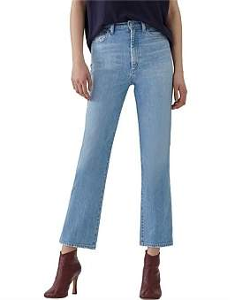 A Gold E Agolde Pinch Waist High Rise Kick Flare Jean