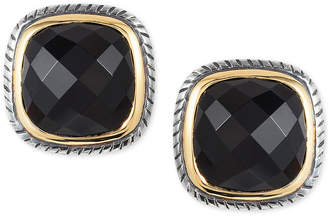 Effy Eclipse by Onyx Stud Earrings in Sterling Silver & 18k Gold