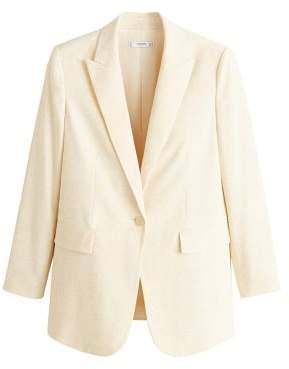 MANGO Flecked suit blazer