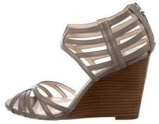 Calvin Klein Collection Fanya Leather Wedges