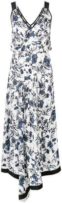 Derek Lam Nightshade Floral Cami Dress with Asymmetric Hem