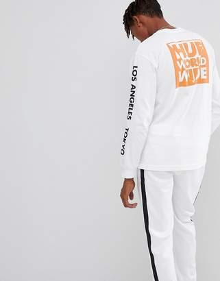 HUF Long Sleeve T-Shirt With International Block Print