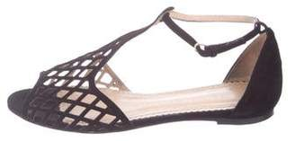 Charlotte Olympia Suede Cutout Sandals
