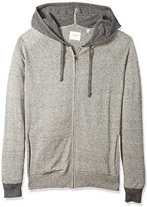 Billy Reid Men's Full Zip Whit Sweater Hoodie