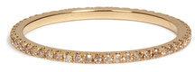 Carolina BucciCarolina Bucci 18K Gold Pave Stacking Ring with Champagne Diamonds