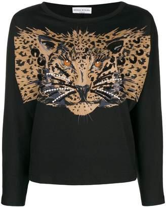 Sonia Rykiel longsleeved leopard print T-shirt
