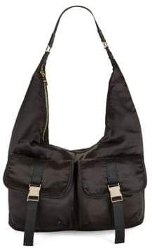 Steve Madden Buckled Satin Hobo Bag