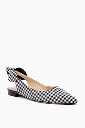 Jon Josef Shoes Black Gingham Manie Flats