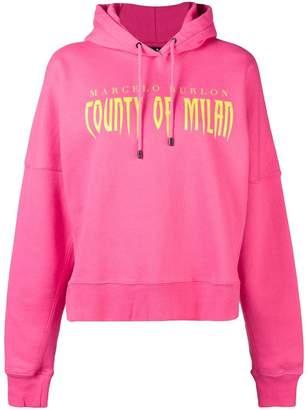 Marcelo Burlon County of Milan logo print hoodie