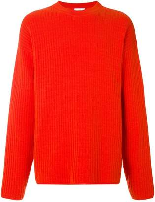 Ami Alexandre Mattiussi Crewneck Oversize Fit Double Face Rib Sweater
