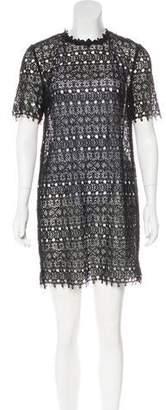R/R Studio Sheer Embroidered Dress