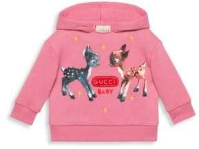 Gucci Baby Girl's Deer Graphic Hoodie