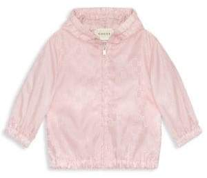 Gucci Baby Girl's Logo Rain Jacket