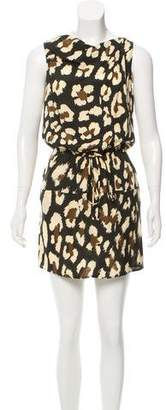 Issa Leopard Print Silk Dress