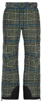 Moncler 3 Check Cotton Blend Ski Trousers - Mens - Grey Multi