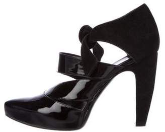 Balenciaga Patent Leather Pointed-Toe Booties