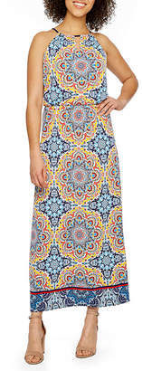 LONDON STYLE Sleeveless Medallion Maxi Dress