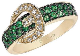 LeVian Le Vian Gladiator Tsavorite, Vanilla Diamond & 14K Ring