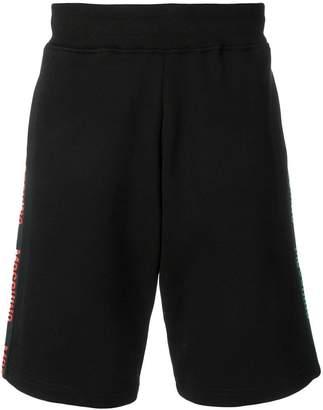 Moschino logo side stripe shorts
