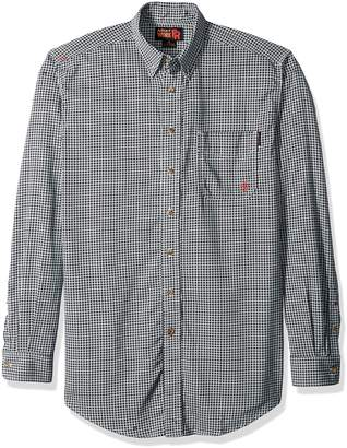 Ariat Men's Big and Tall Flame Resistant Work Shirt, Blue Multi, Large/Tall