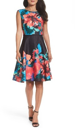 Women's Tahari Floral Fit & Flare Dress $138 thestylecure.com