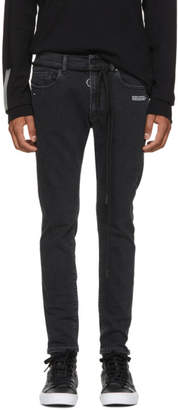 Off-White Black Slim Firetape Jeans