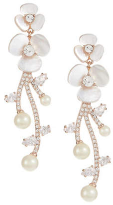 Kate Spade Pearl and Pavé Crystal Statement Earrings