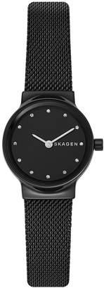 Skagen Women's Freja Black Stainless Steel Mesh Bracelet Watch 26mm