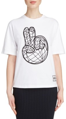 Women's Kenzo Peace World Embroidered Cotton Tee $185 thestylecure.com