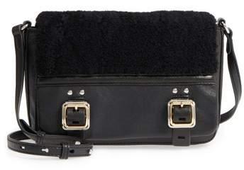 Vince Camuto Delos Genuine Shearling & Leather Crossbody Bag