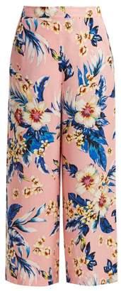 Diane von Furstenberg Floral Print Wide Leg Trousers - Womens - Pink Print