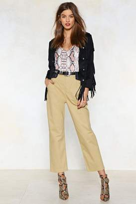Nasty Gal Waist No Time Cropped Pants
