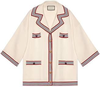 Gucci Silk cotton cardigan with stripes