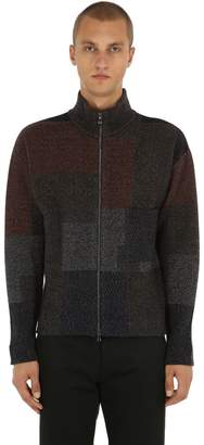 Patchwork Wool & Cashmere Knit Sweater