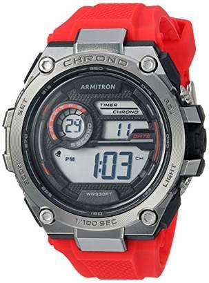 Armitron Sport Men's 40/8450 Digital Chronograph Silicone Strap Watch