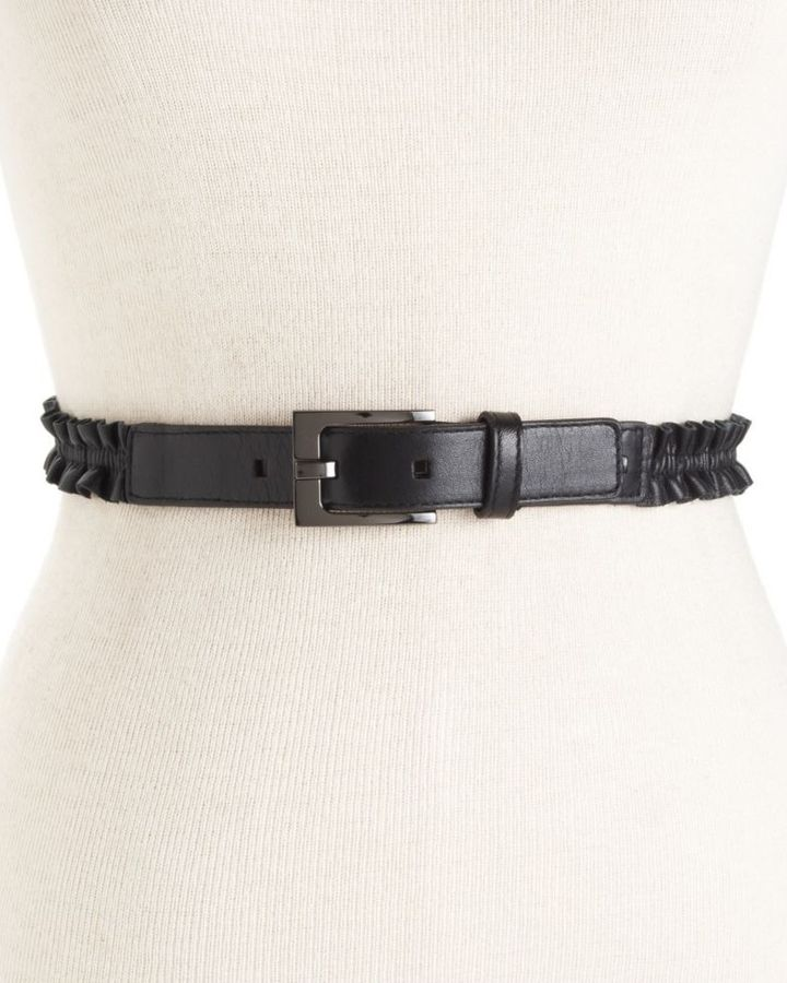 Calvin Klein Belt, Rouched Leather Harness Buckle