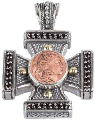 Konstantino Men's Aeolus Athena Cross Pendant w/Spinel $580 thestylecure.com