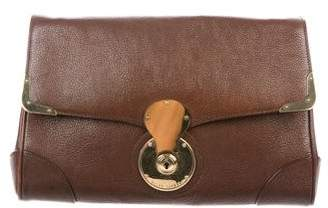 Ralph Lauren Ricky Leather Clutch