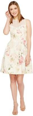 Maggy London Print Broccade Fit Flare Dress Women's Dress