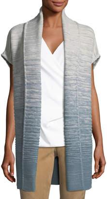 Lafayette 148 New York Wool-Blend Ribbed Long Vest
