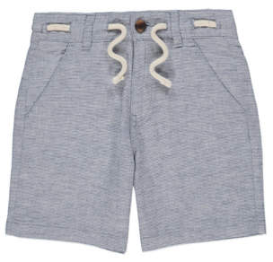 George Blue Woven Stripe Rope Detail Shorts
