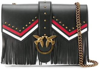 Pinko fringe embellished shoulder bag
