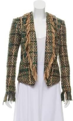 Maiyet Woven Open Front Blazer